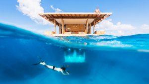 víz alatti hotelek